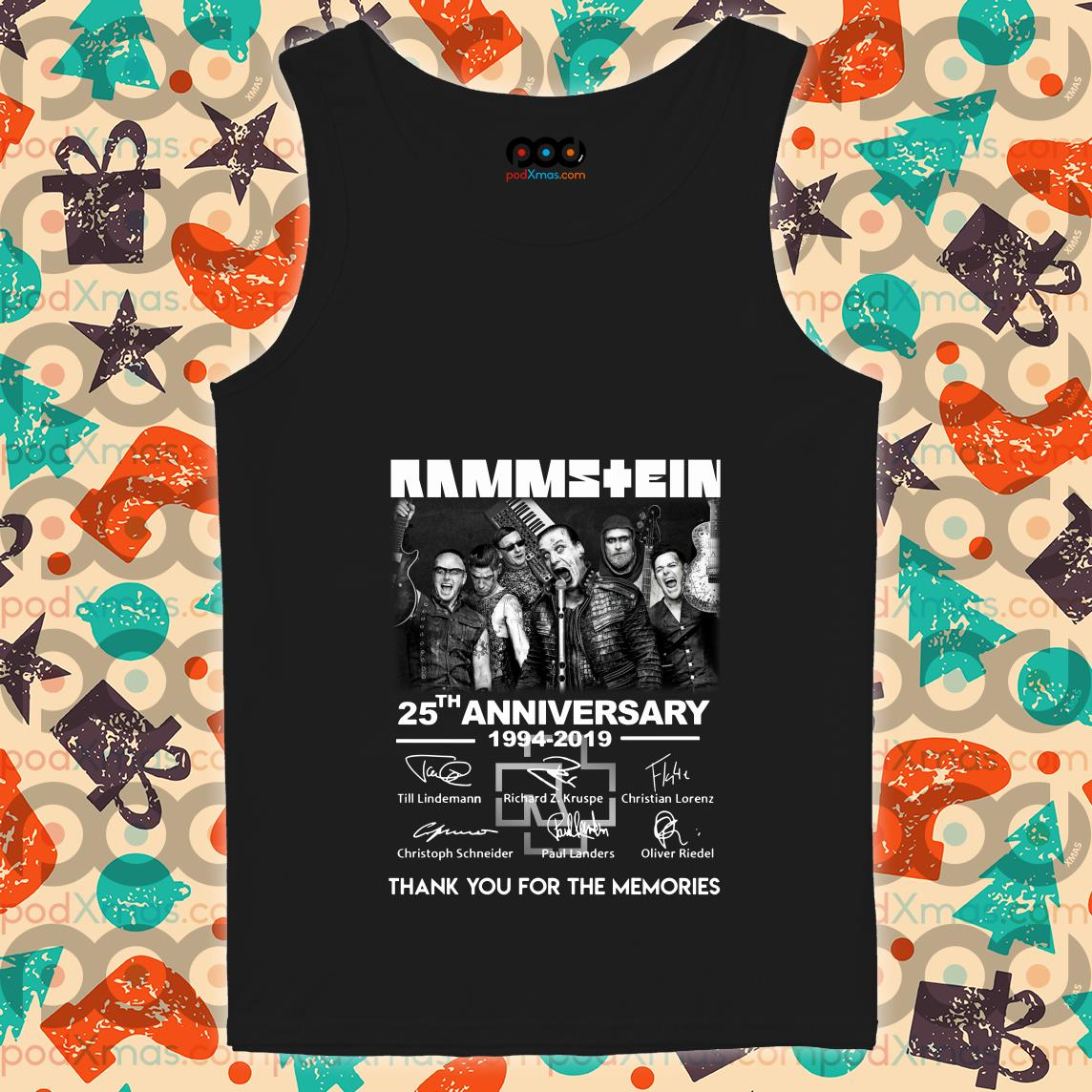 Rammstein 25th anniversary 1994 2019 signatures tank top