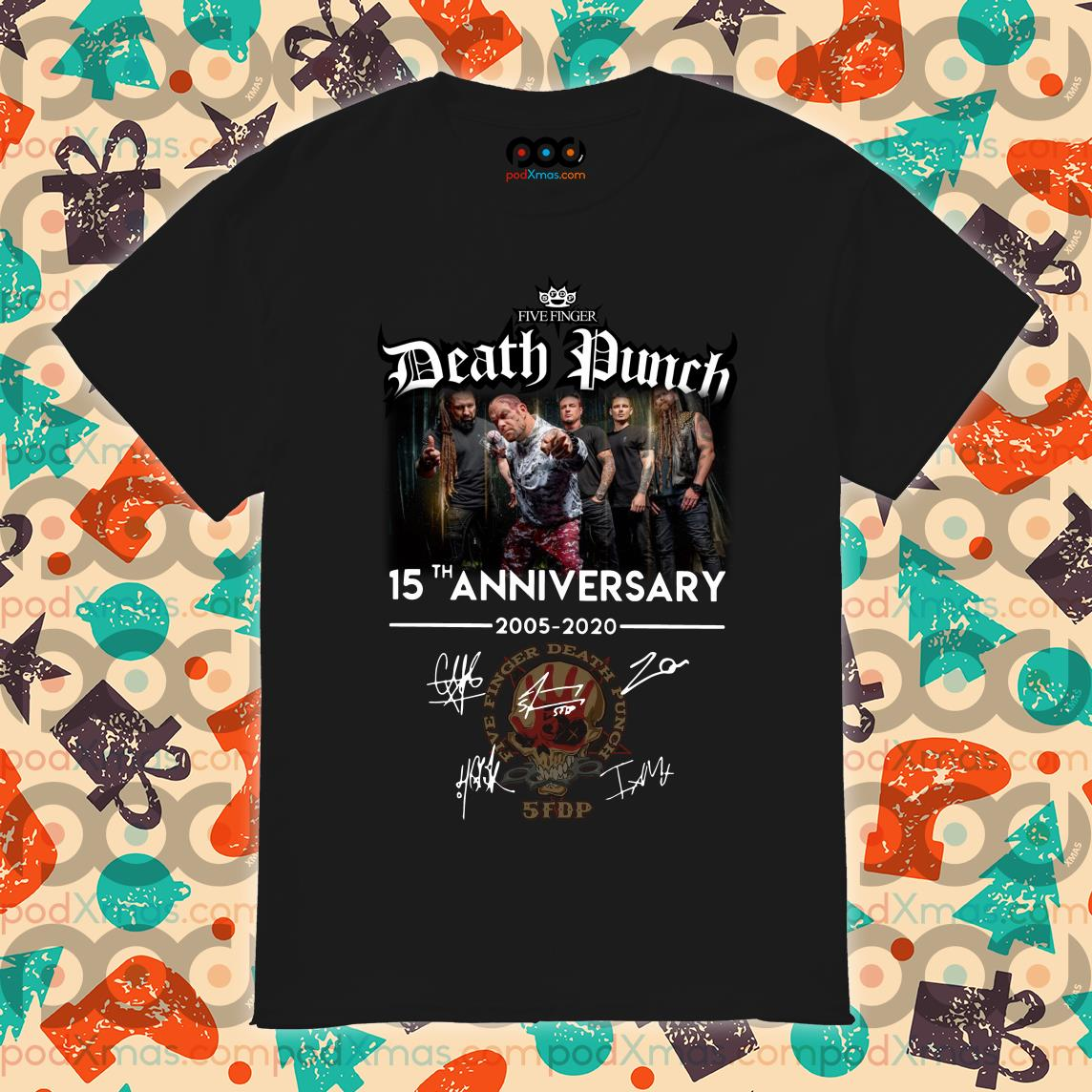 Five Finger Death Punch 15th anniversary 2005 2020 shirt