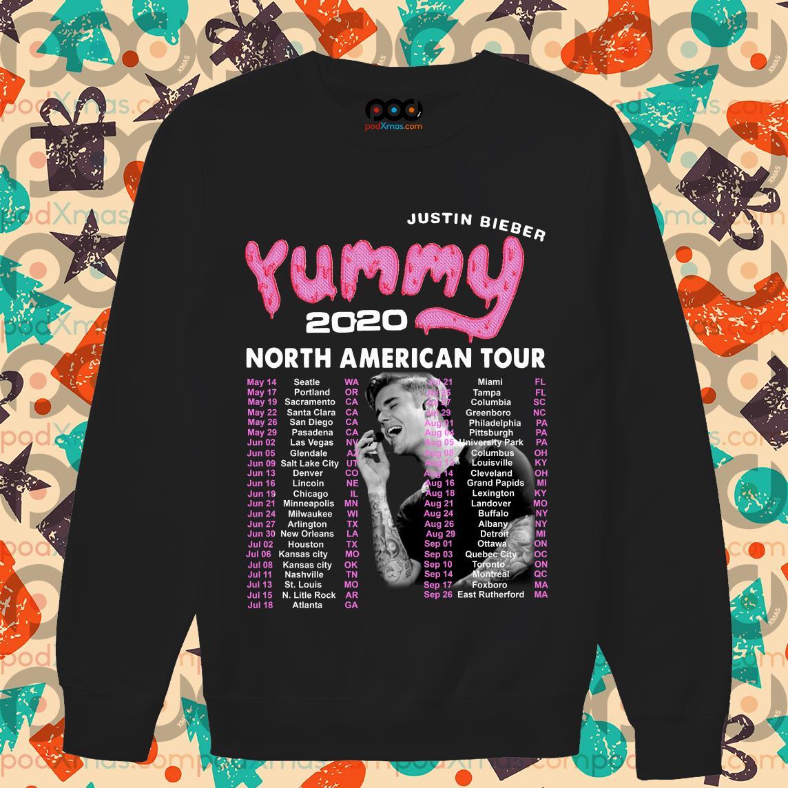 Justin Bieber Yummy 2020 North American Tour sweater