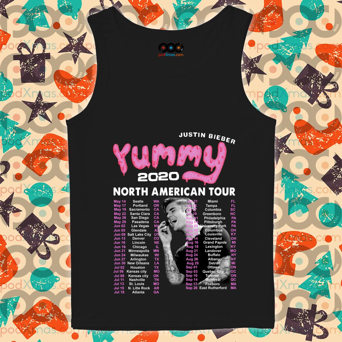 Justin Bieber Yummy 2020 North American Tour tank top