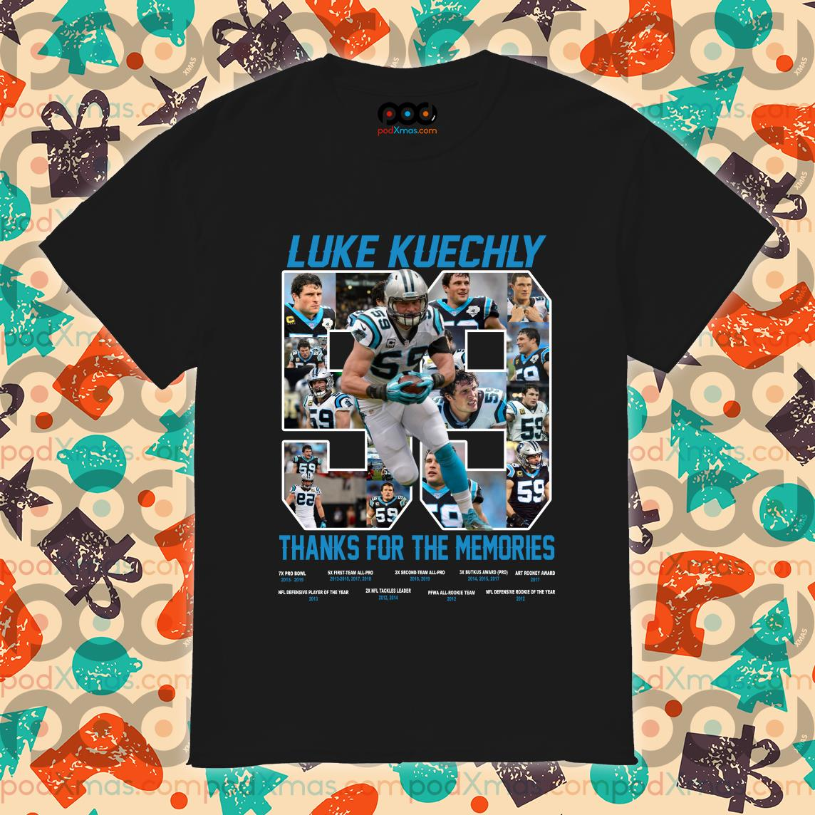 Luke Kuechly 59 thanks for the memories shirt