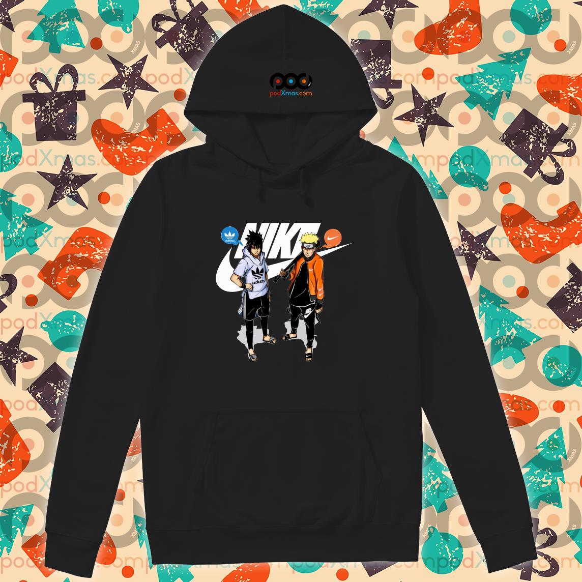 Naruto Nike and Sasuke Adidas hoodie