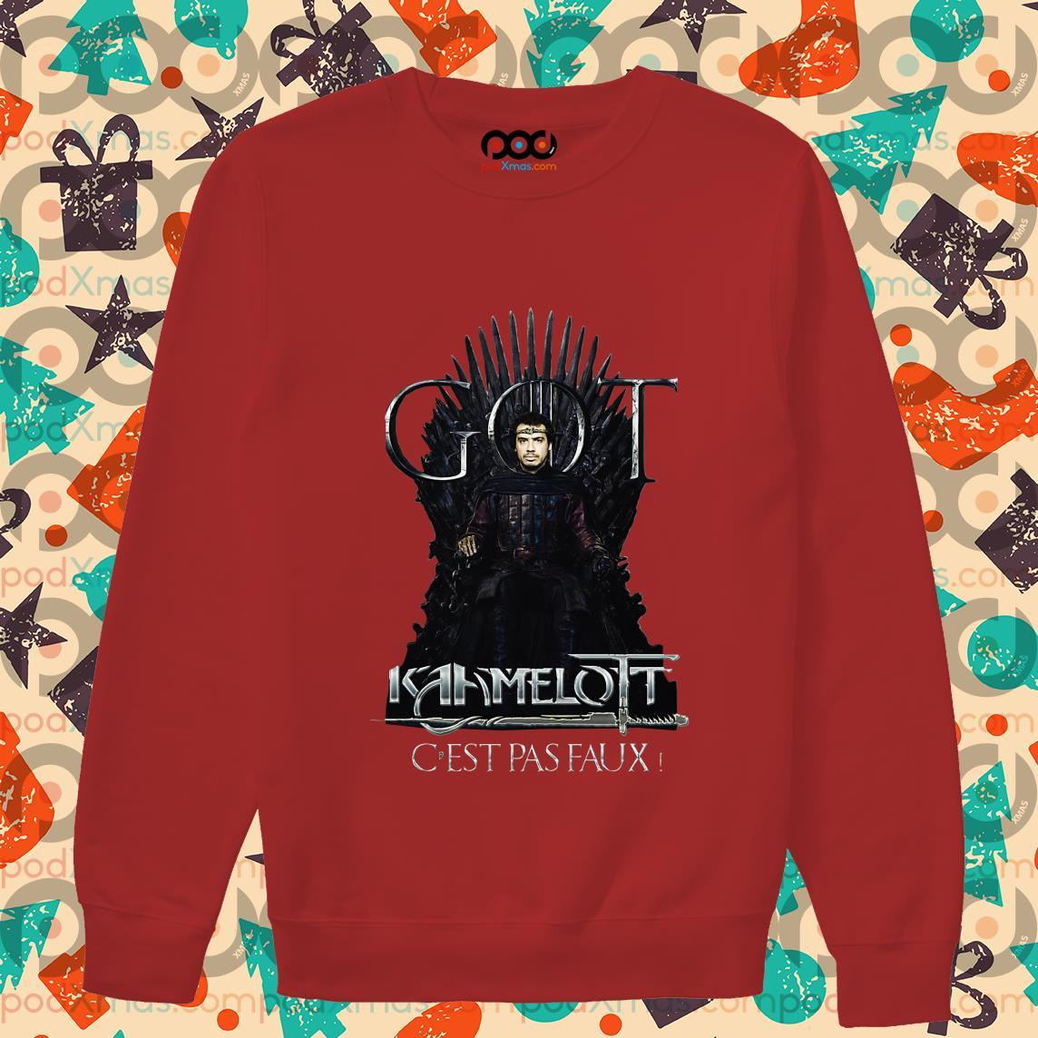 Alexandre Astier GOT Kaamelott C'est Pas Faux sweater