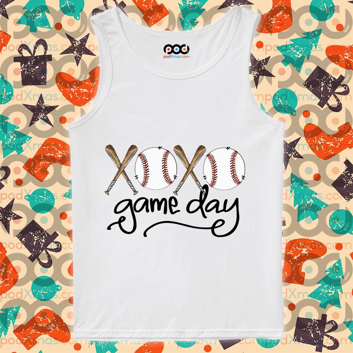 Baseball xoxo game day tank top
