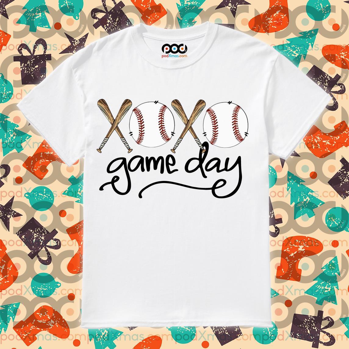 Baseball xoxo game day shirt