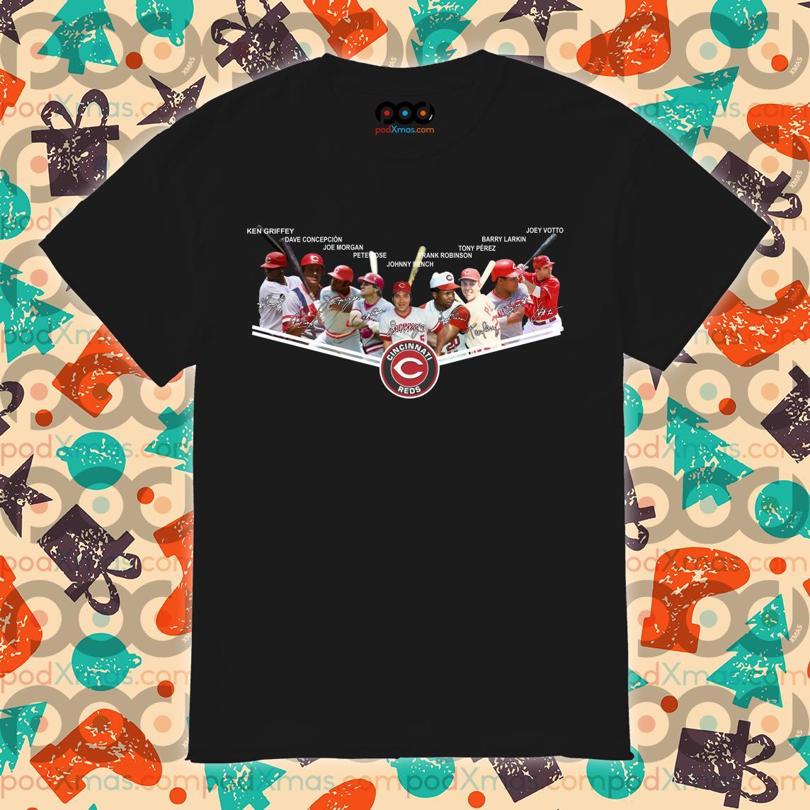 Cincinnati Reds Legend Players signatures shirt