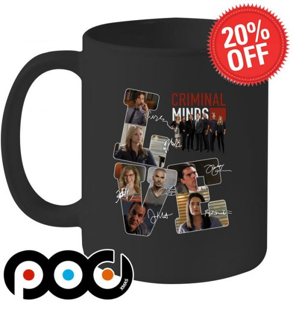 Criminal Minds Love signatures mug
