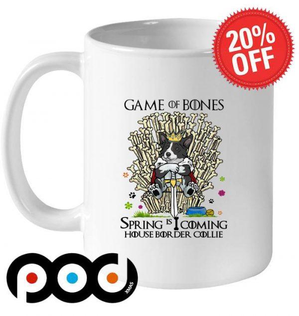 Game Of Bones Spring is coming House Border Collie mug