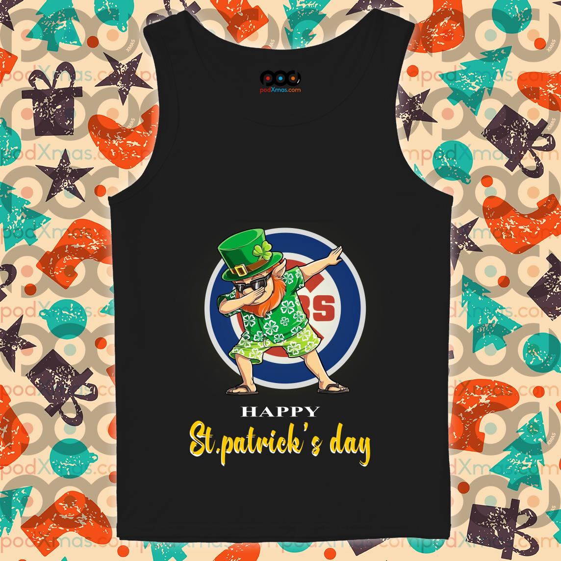 Irish Dabbing Chicago Cubs St Patrick's Day tank top