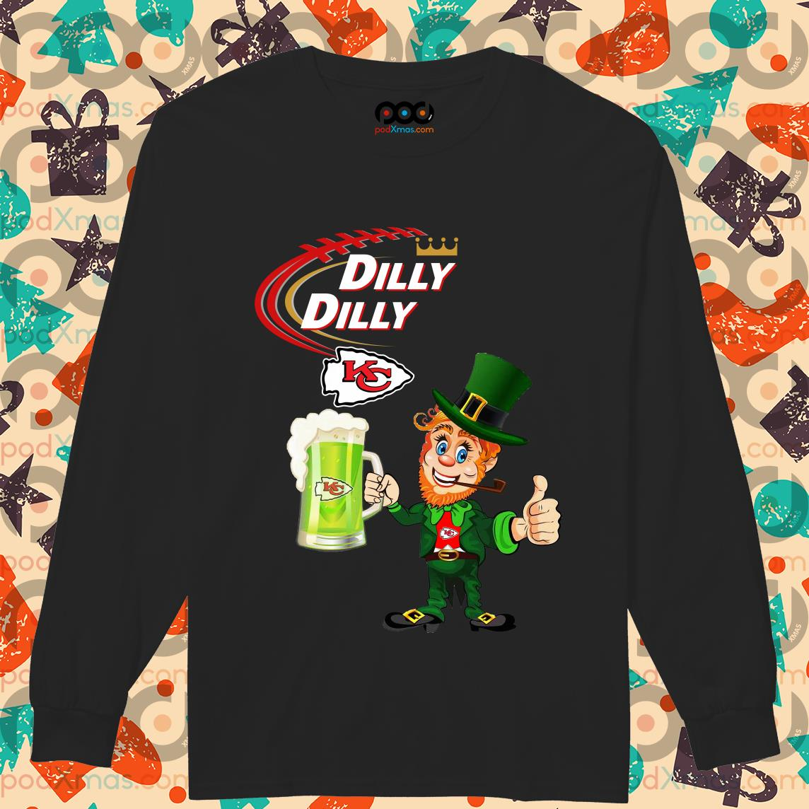 Irish St Patrick's Day Dilly Dilly beer Kansas City long sleeve