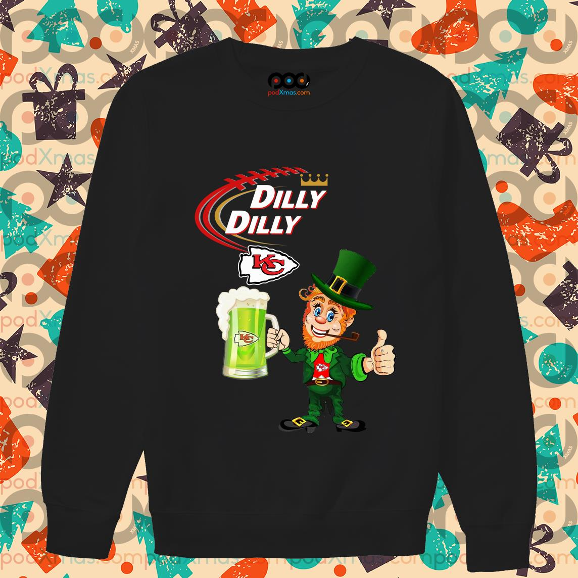 Irish St Patrick's Day Dilly Dilly beer Kansas City sweater