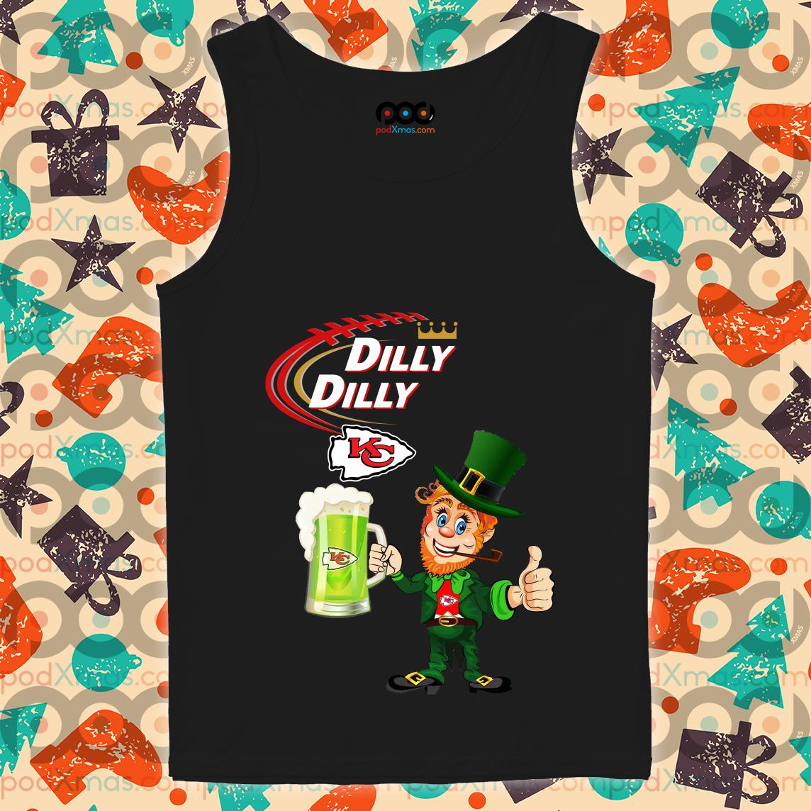 Irish St Patrick's Day Dilly Dilly beer Kansas City tank top