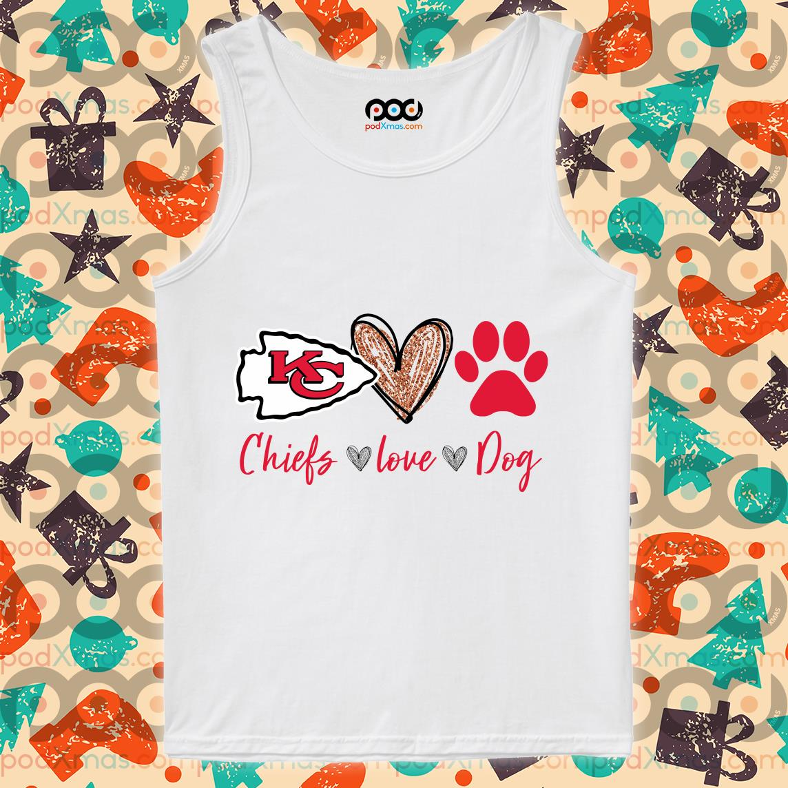 Kansas City Chiefs love dog tank top