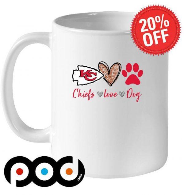Kansas City Chiefs love dog mug