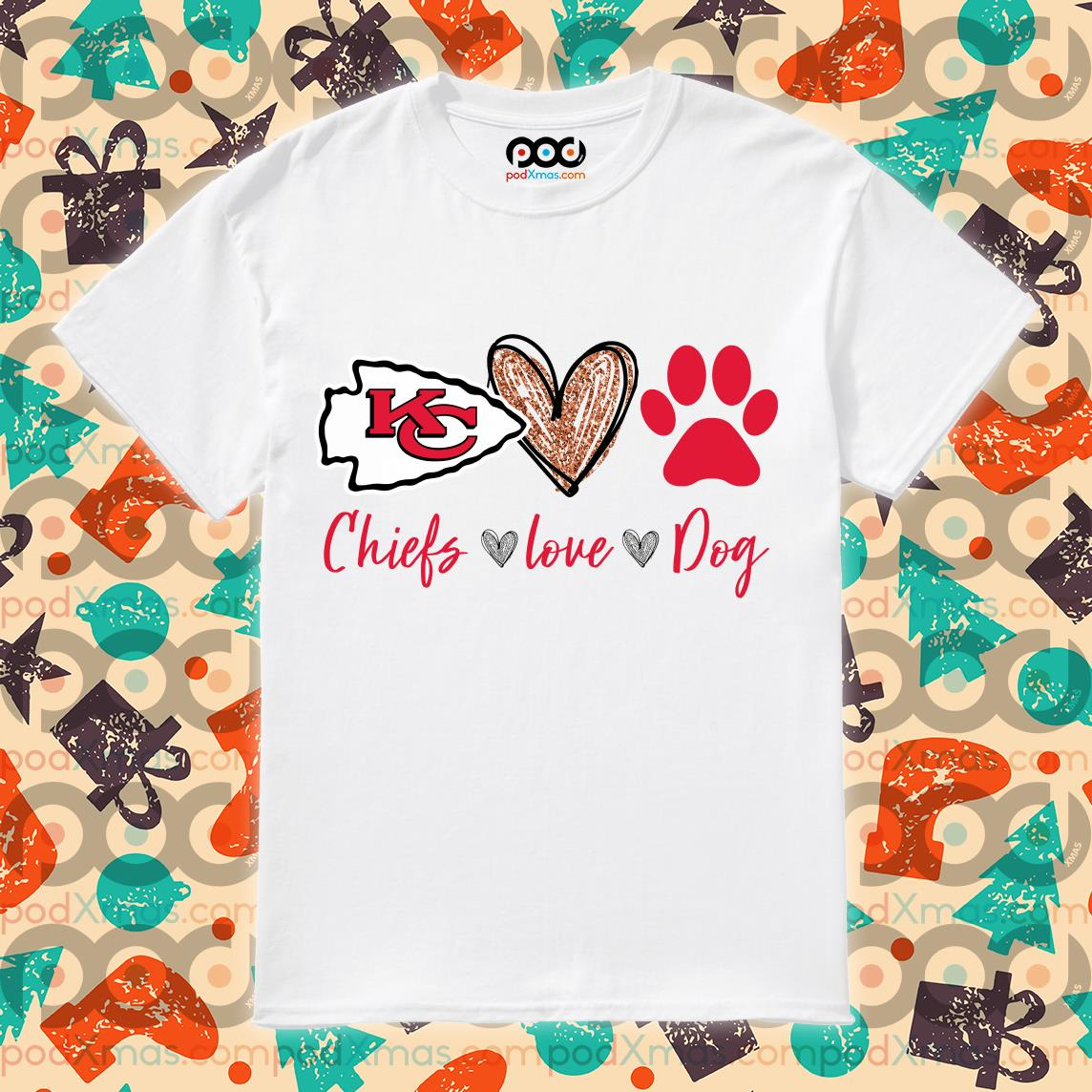 Kansas City Chiefs love dog shirt