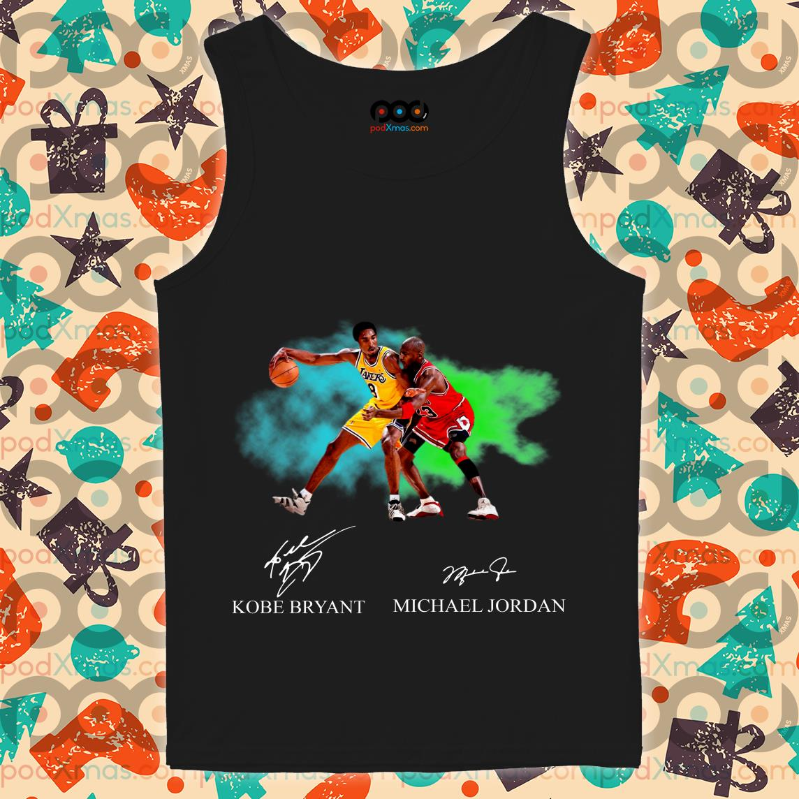 Kobe Bryant vs Michael Jordan Signatures tank top