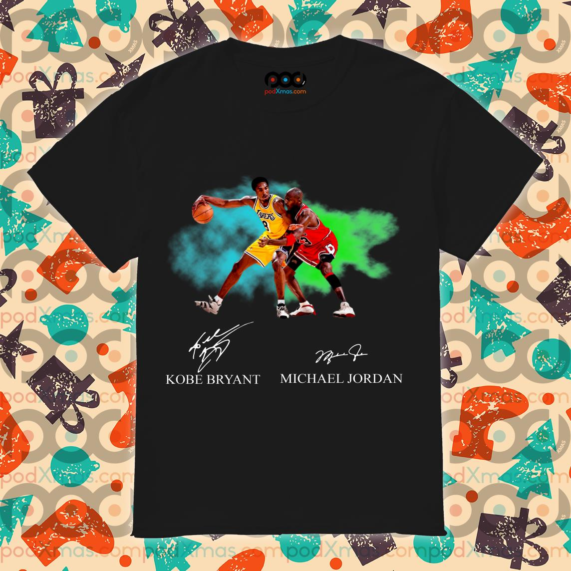 Kobe Bryant vs Michael Jordan Signatures shirt
