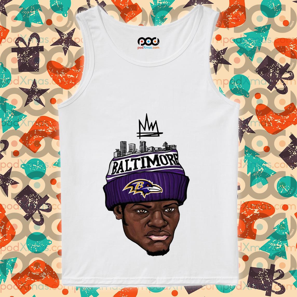 Lamar Jackson King Work Baltimove Ravens tank top