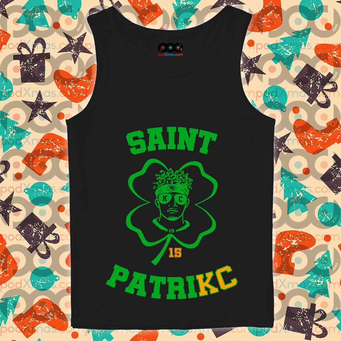 Mahomes St Patrick's Day Saint PatriKC funny tank top