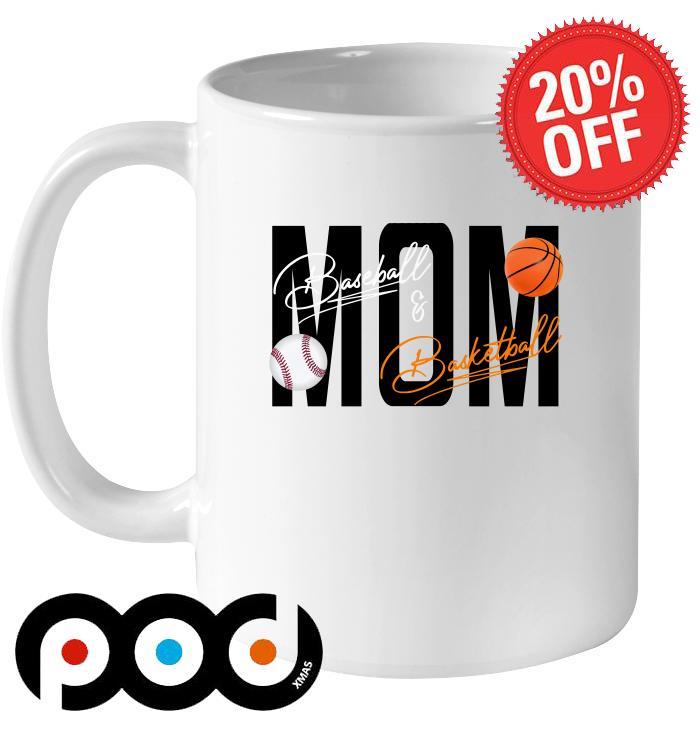 Mom Baseball Basketball signatures mug