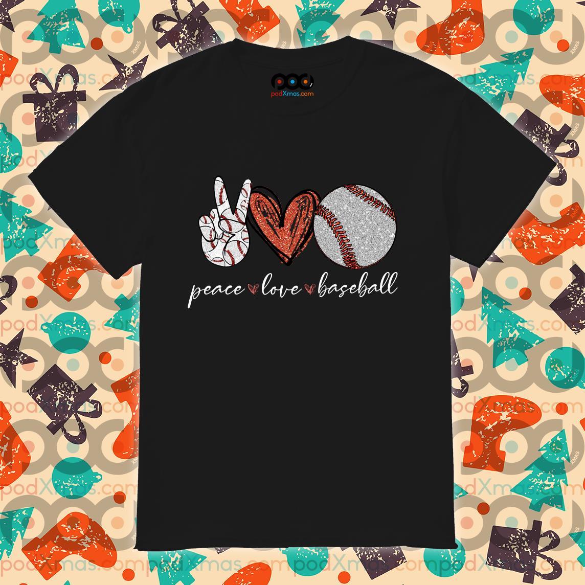 Peace love baseball shirt