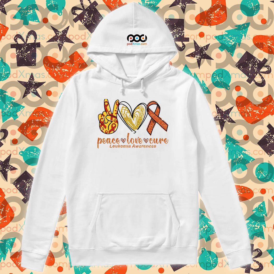 Peace love cure Leukemia Awareness hoodie