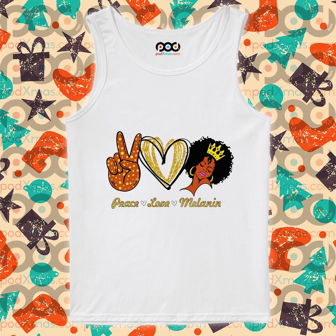 Peace love melanin tank top