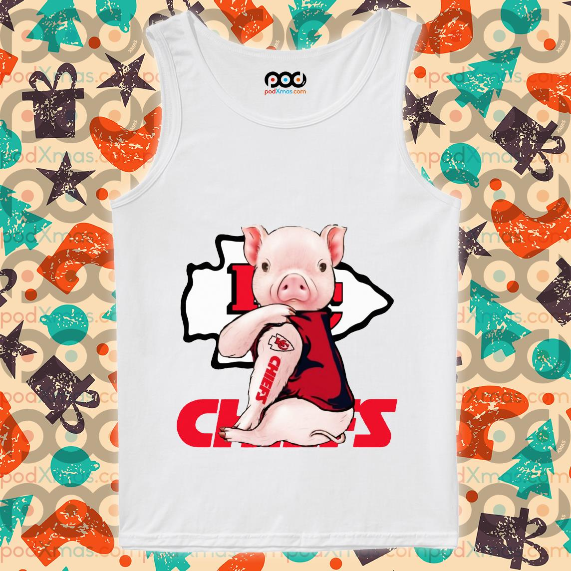 Pig Kansas City Chiefs tank top