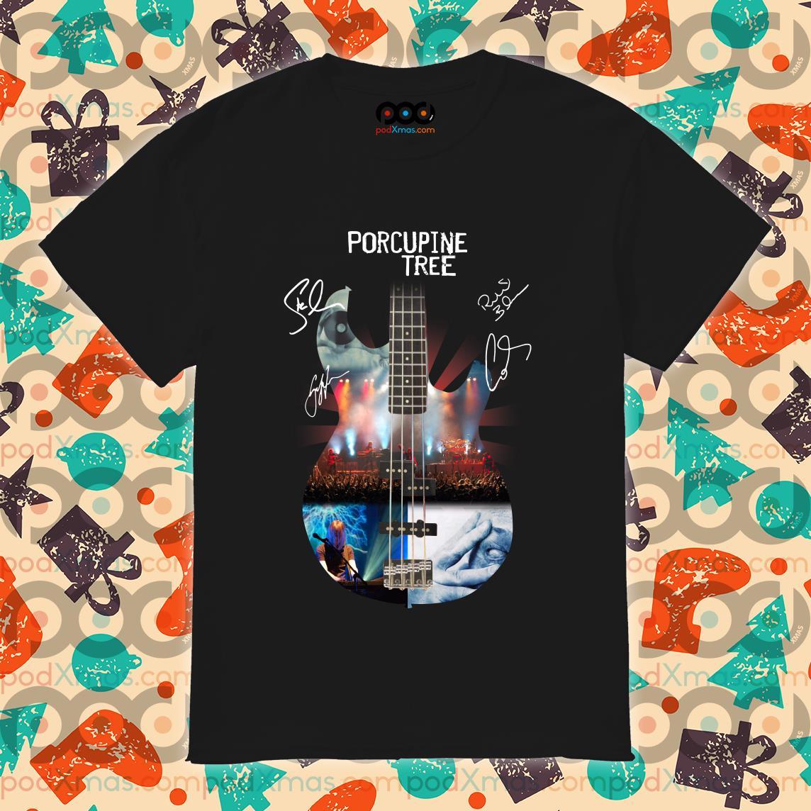 Porcupine tree guitar signatures shirt