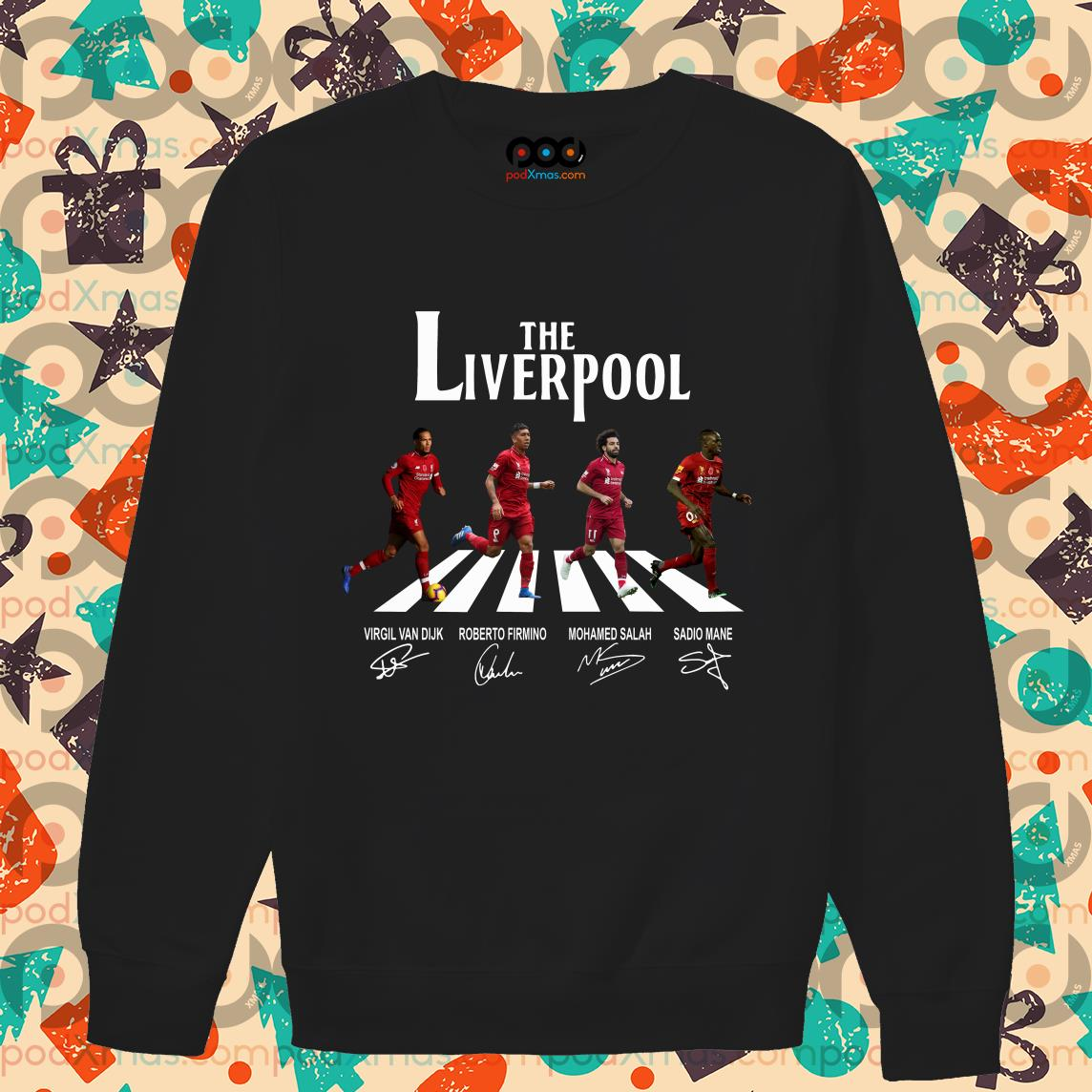 The Liverpool The Beatles Abbey Road signatures sweater