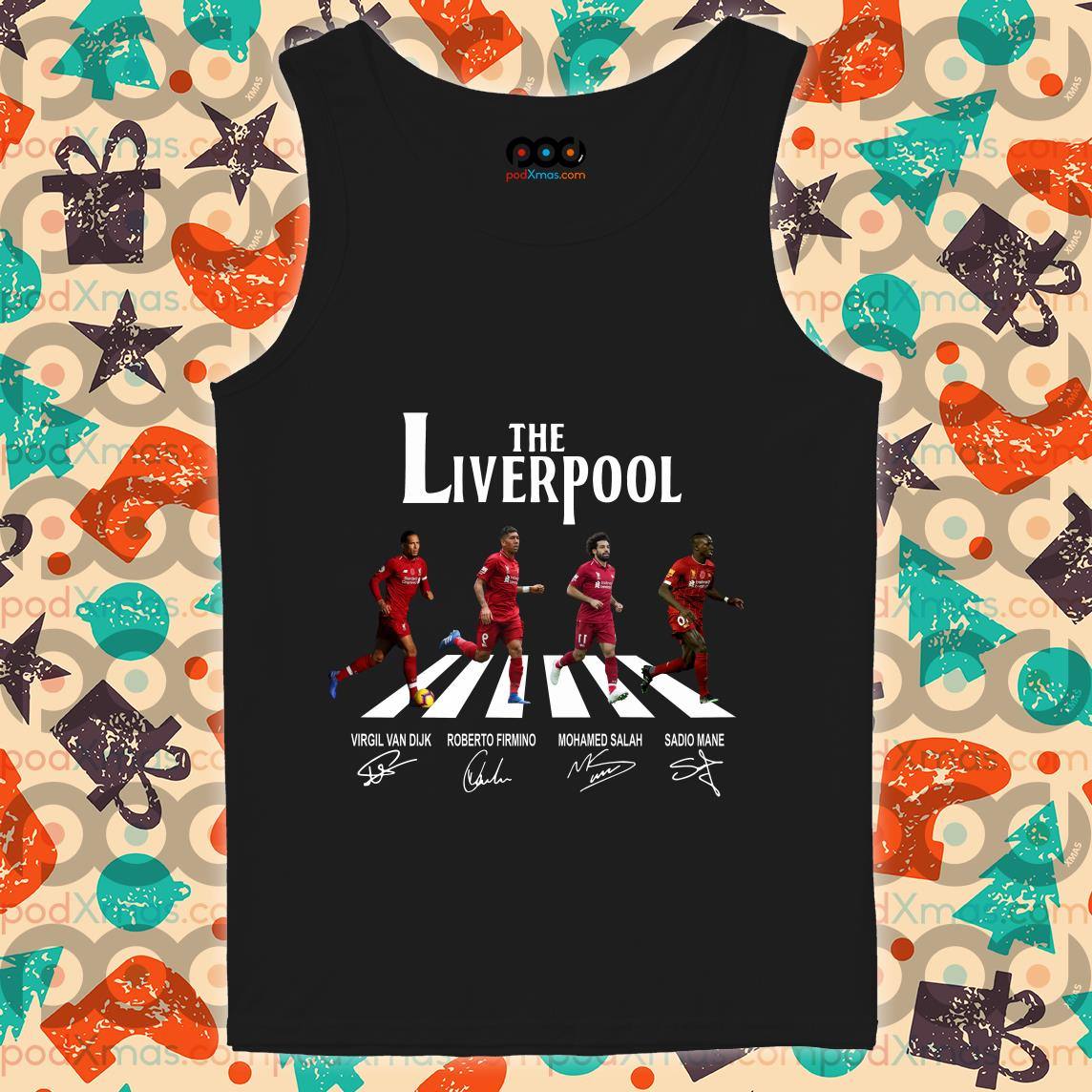 The Liverpool The Beatles Abbey Road signatures tank top