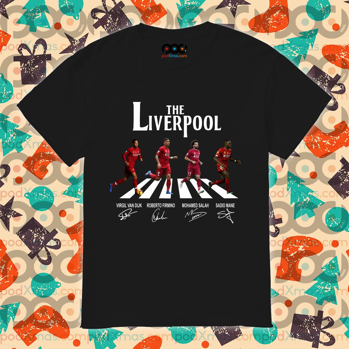 The Liverpool The Beatles Abbey Road signatures shirt