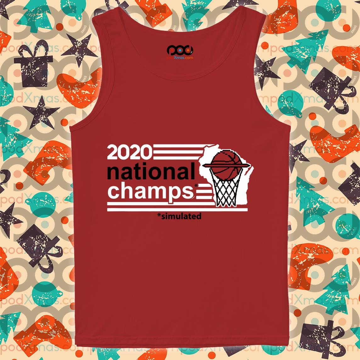 2020 National Champs Simulated Sim Champs T-tank top
