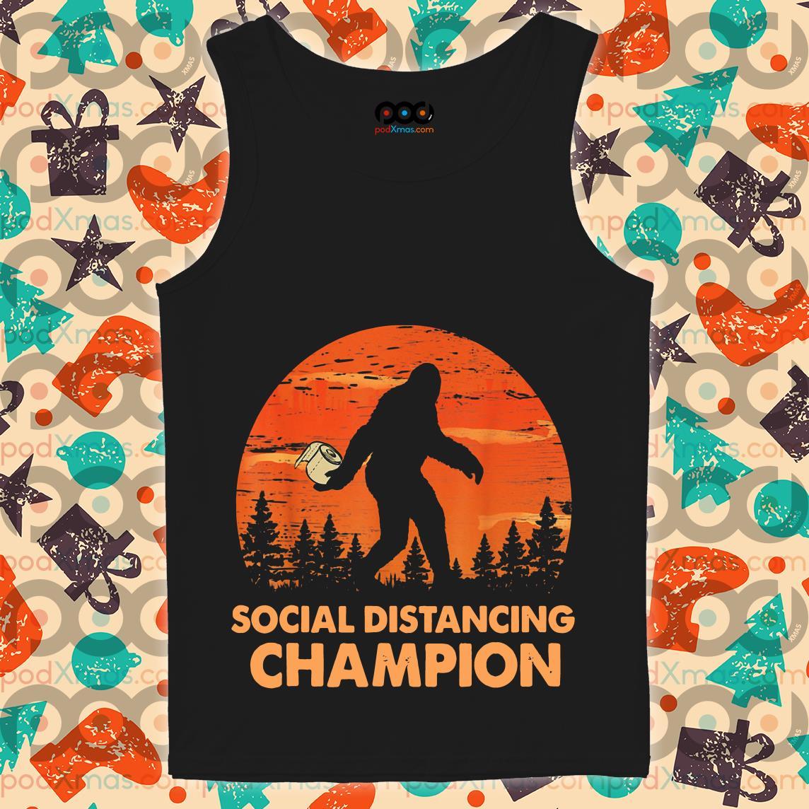 Bigfoot Toilet Paper Social Distancing Champion tank top