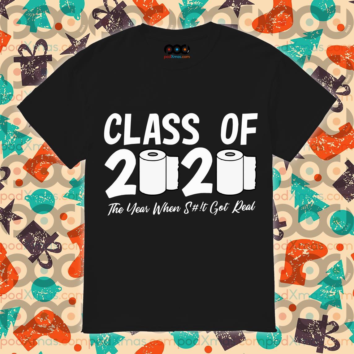 Class Of 2020 Graduation Senior Virus Flu Toilet Paper 2020 T-Shirt