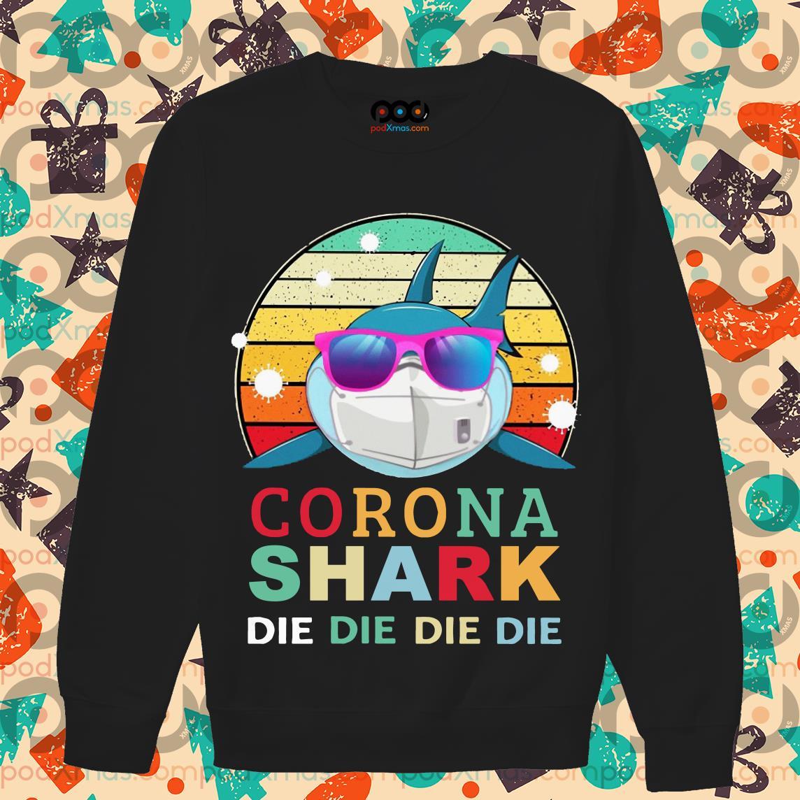Corona Shark die die die die vintage T-sweater