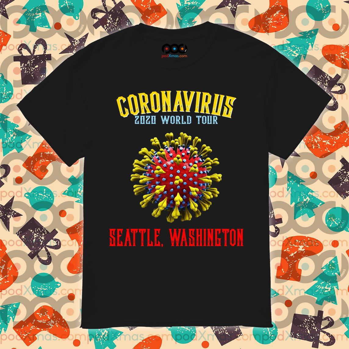 Coronavirus 2020 world tour seattle Washington shirt