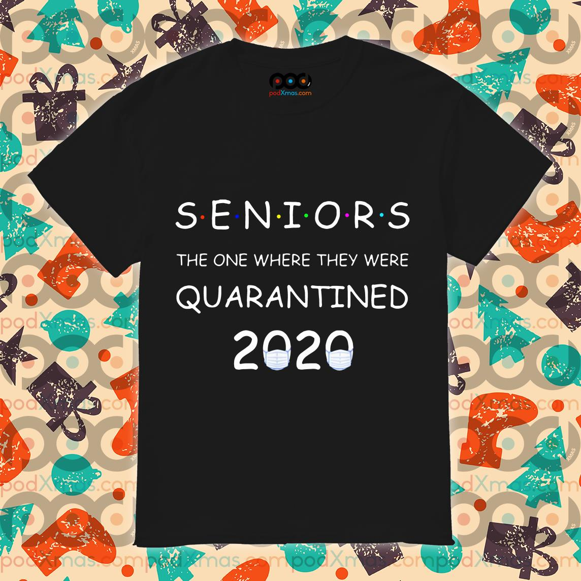 Funny Class Of 2020 Graduation Senior Quarantine T-Shirt