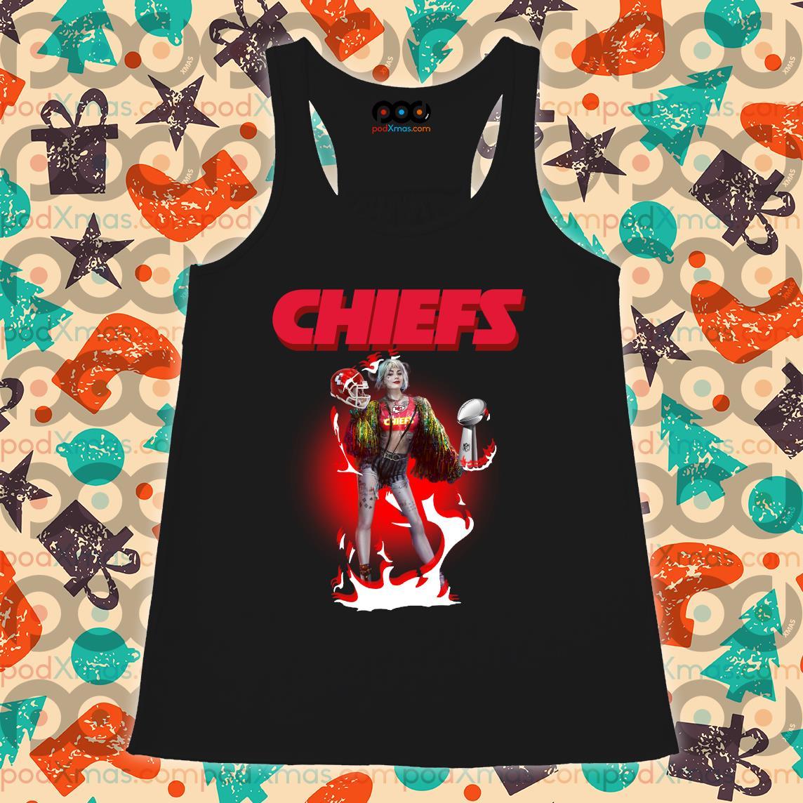Harley Quinn Kansas City Chiefs Super Bowl LIV s Flowy tank PODxmas den