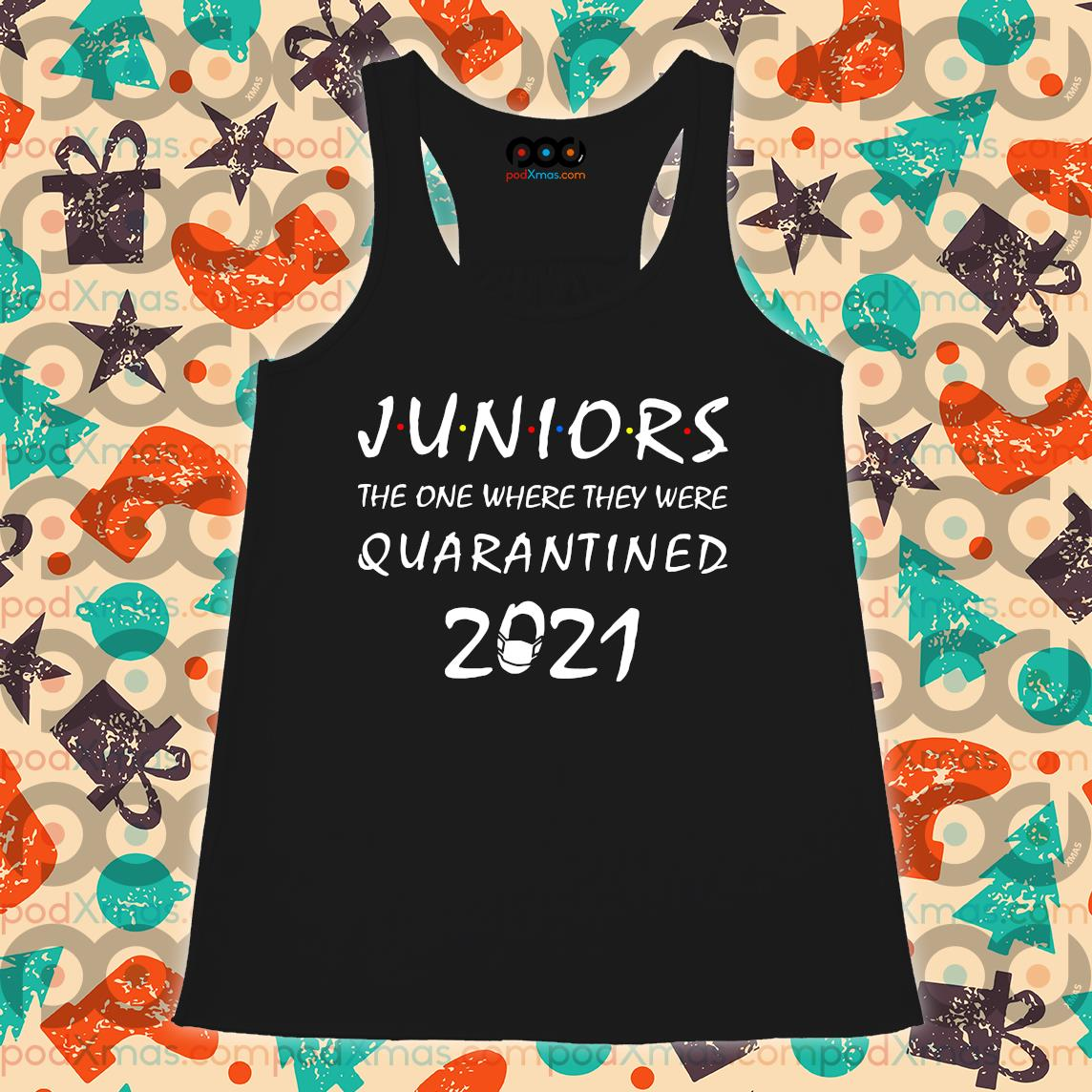 Juniors The one where they were Quarantined 2021 s Flowy tank PODxmas den