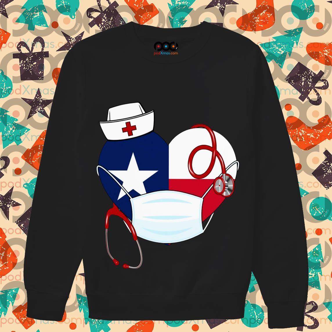 Nurse American Heart wear mask T-sweater