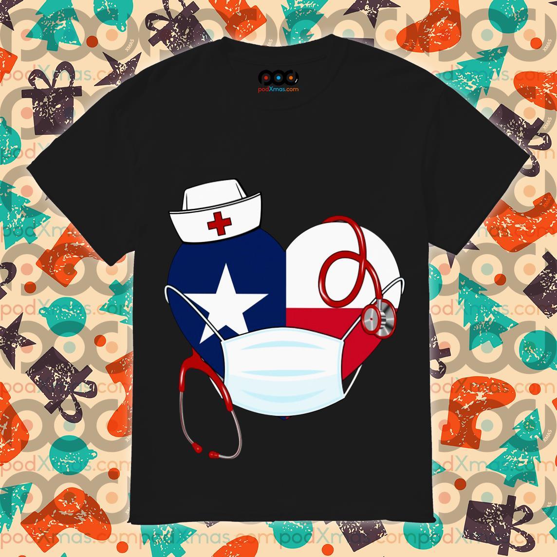 Nurse American Heart wear mask T-shirt