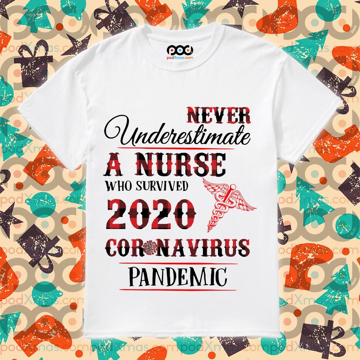 Nurse who survived 2020 coronavirus pandemic shirt