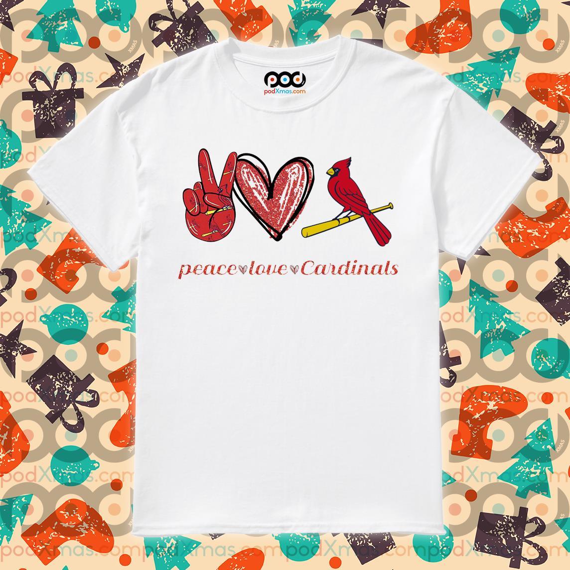 Peace love save Cardinals shirt