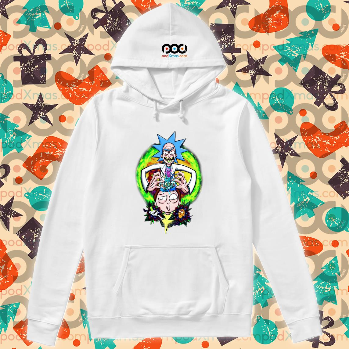 Rick and Morty CRAZY DOCTER s Hoodie PODxmas trang