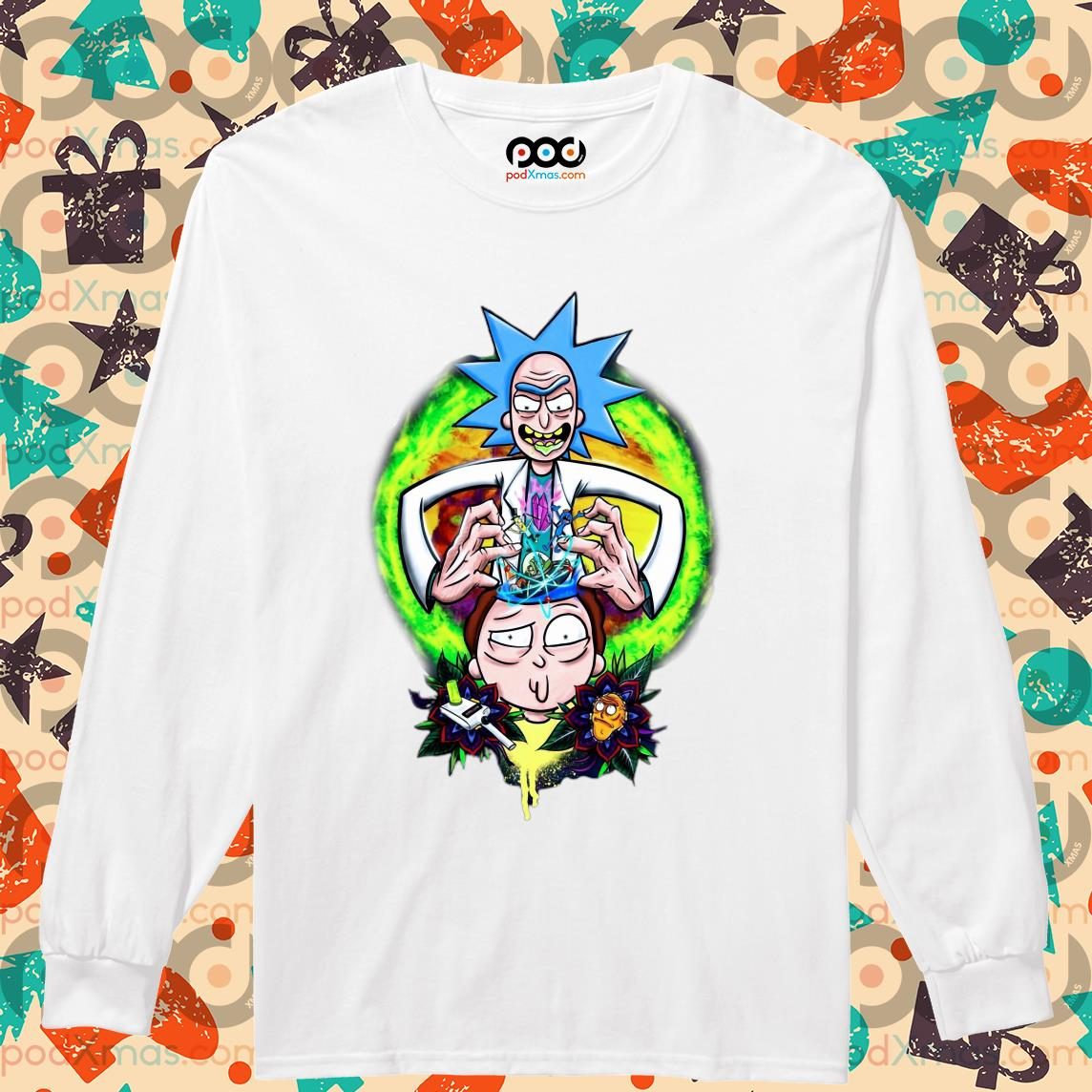 Rick and Morty CRAZY DOCTER s Longsleeved PODxmas trang