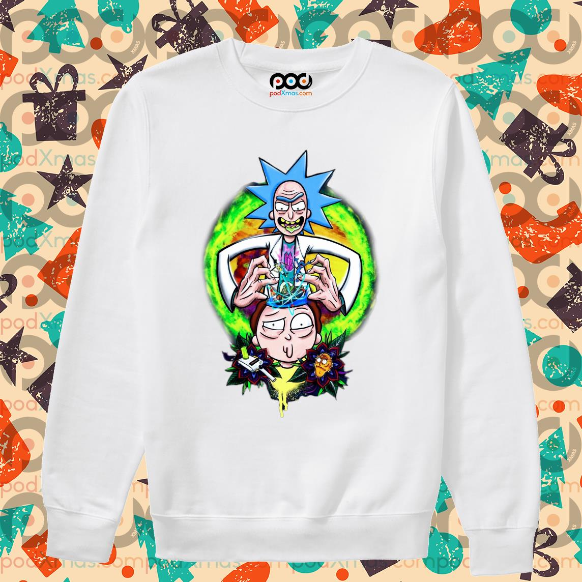 Rick and Morty CRAZY DOCTER s Sweater PODxmas trang