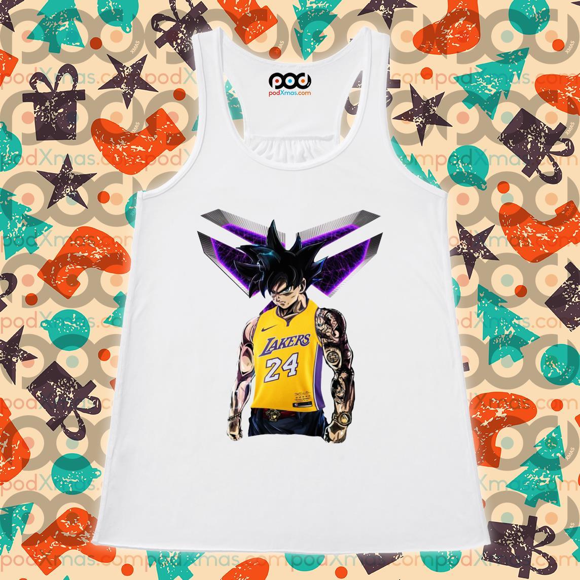 Songoku Kobe Bryant Logo Shirt Flowy tank PODxmas trang