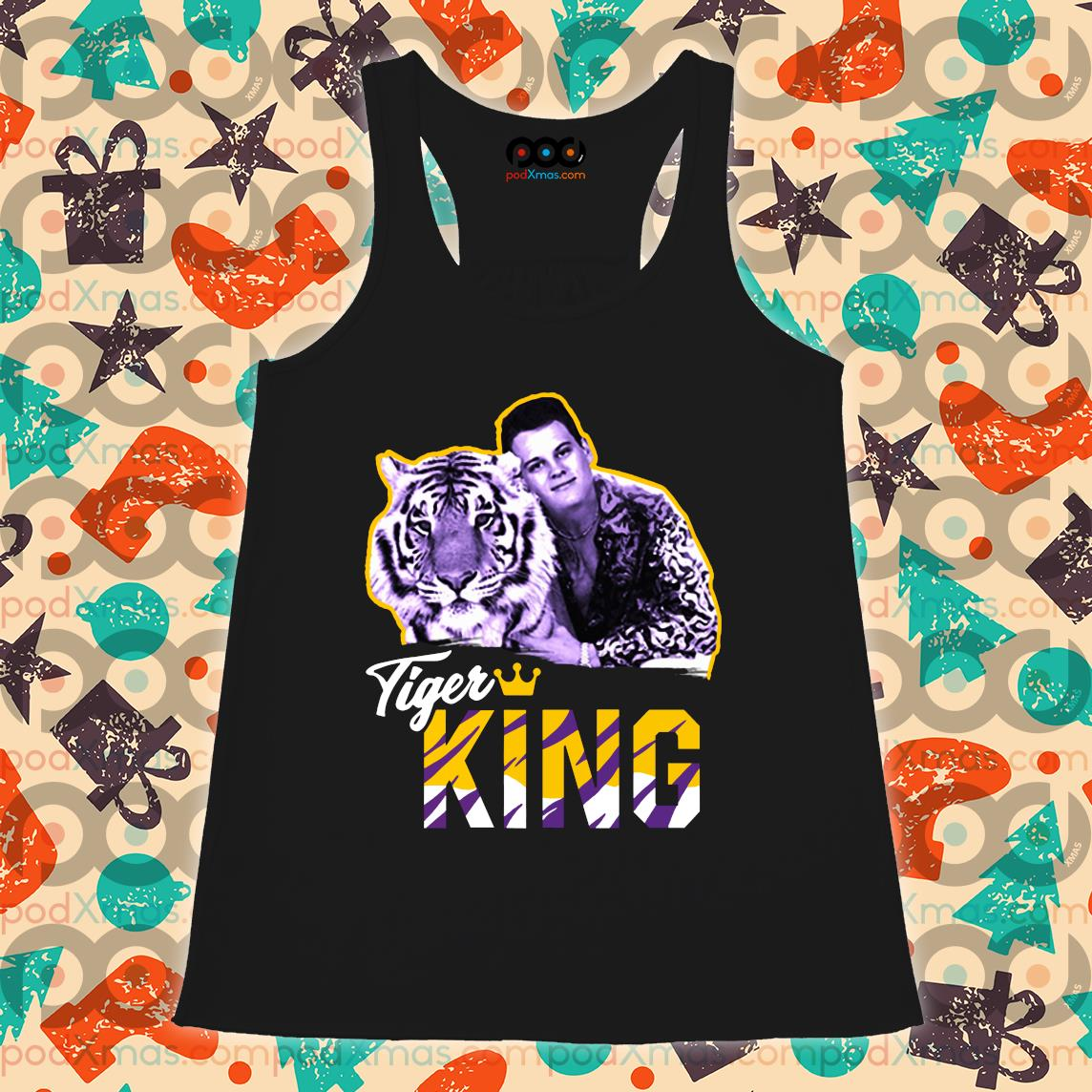 Tiger King T-Shirt Flowy tank PODxmas den