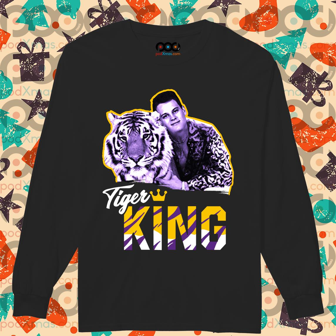 Tiger King T-Shirt Longsleeved PODxmas den